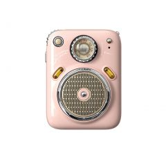 Divoom Beetle FM Portable Radio Bluetooth Speaker - Pink