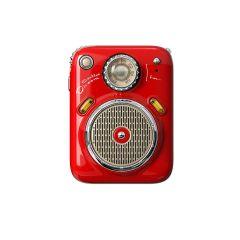 Divoom Beetle FM Portable Radio Bluetooth Speaker - Red