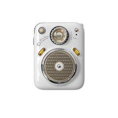 Divoom Beetle FM Portable Radio Bluetooth Speaker - White