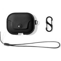 Twelve South AirSnap Pro Leather Case for AirPods Pro - Black