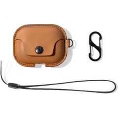 Twelve South AirSnap Pro Leather Case for AirPods Pro - Cognac
