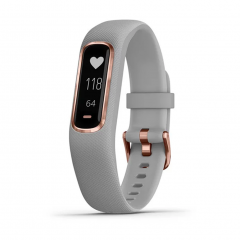 Garmin Vivosmart 4 Activity Smartwatch - Gray/Rose Gold (Small/Medium)