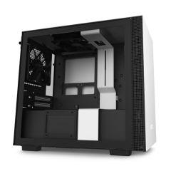 NZXT H210i Smart Mini ITX Gaming Computer Case - Matte White