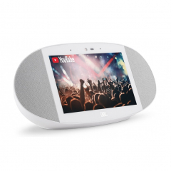 JBL Link View - Smart Display Speaker with Google Assistant - White (JBL Refurbished)