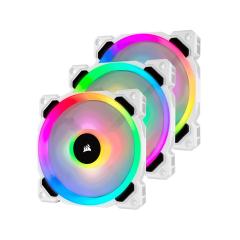 Corsair WHITE LL120 RGB 120mm - 3 Fan Pack with Lighting Node PRO