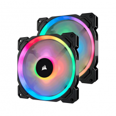 Corsair LL140 RGB 140mm Dual Light Loop Fan - 2 Pack with Lighting Node PRO