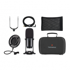 Thronmax MDrill One USB Microphone Studio Kit - Jet Black