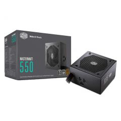 Cooler Master MasterWatt 80+ Bronze 550W Semi-Modular Power Supply PSU Silencio fan