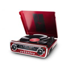 ION Audio Mustang LP Turntable - Red
