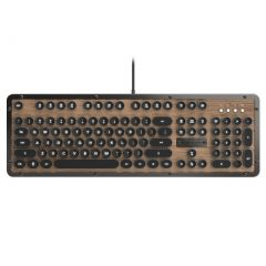 Azio Retro Classic USB Typewriter Inspired Mechanical Keyboard - Brown/Grey