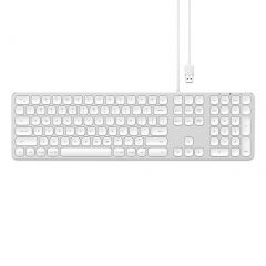 Satechi Aluminium Wired Keyboard For Mac - Silver