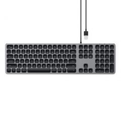 Satechi Aluminium Wired Keyboard For Mac - Space Grey