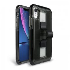 BodyGuardz SlideVue Case for iPhone XR - Smoke/Black
