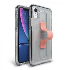 BodyGuardz SlideVue Case for iPhone XR - Clear/Pink