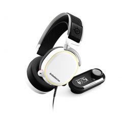 SteelSeries Arctis Pro + GameDAC White Gaming Headset High Res Audio RGB