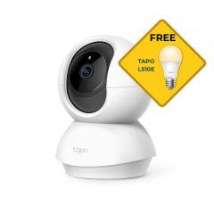 TP-Link Tapo C200 Pan/Tilt Wi-Fi Camera Bonus Free L510E Light Bulb