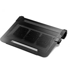 Cooler Master Notepal U3 Plus Black Movable Fan Aluminium Cooling Pad ( Fits Up To 19)