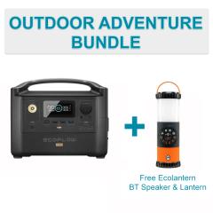 EcoFlow River Pro Solar Portable Power Station Bonus Wireless Bluetooth Speaker & Lantern