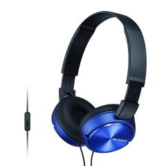 Sony ZX310AP Folding On-Ear Headphones - Blue
