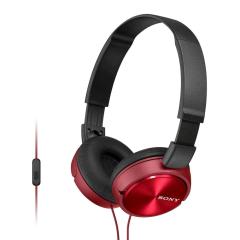 Sony ZX310AP Folding On-Ear Headphones - Red