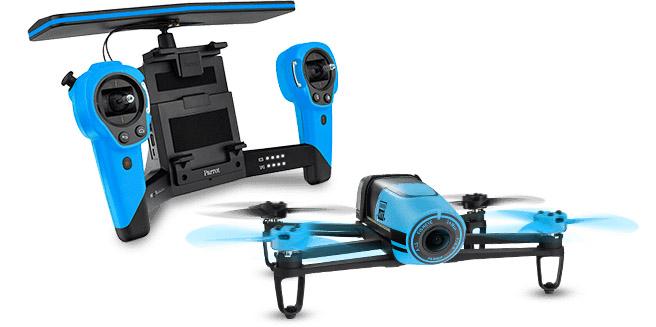 parrot bebop drone skycontroller blue